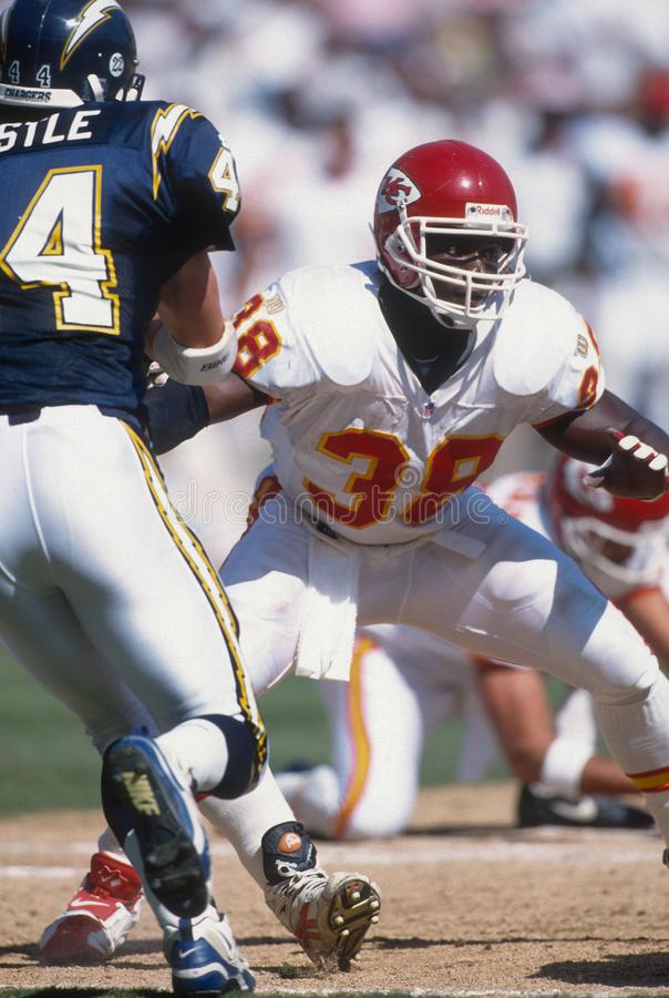 Kimble Anders. FB Kansas City Chiefs. Image taken from color slide royalty free stock images