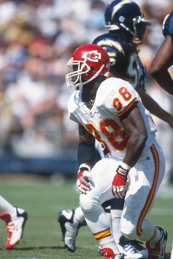 Kimble Anders. FB Kansas City Chiefs. Image taken from color slide royalty free stock image