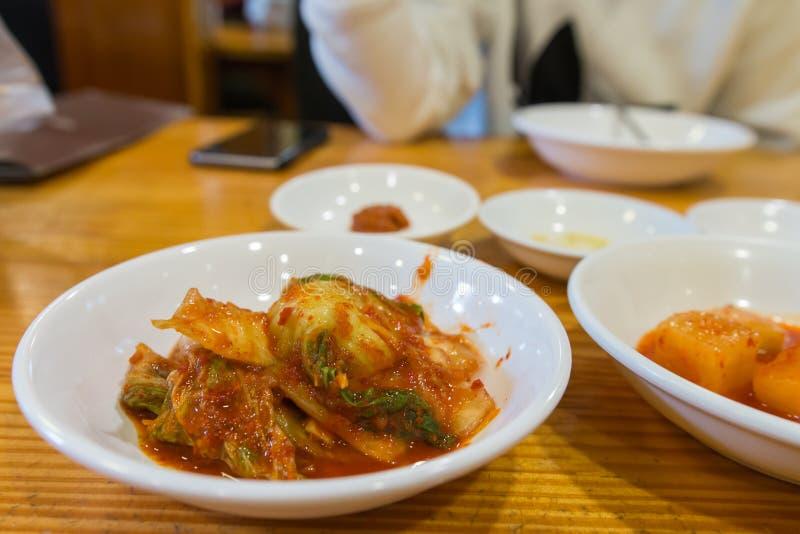 Kimchi, κορεατικά τοπικά τρόφιμα στοκ φωτογραφία με δικαίωμα ελεύθερης χρήσης