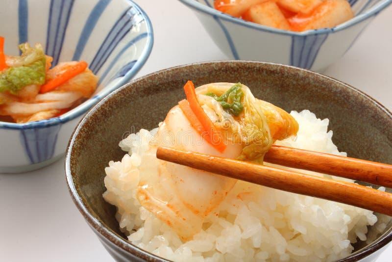 Kimchi, κορεατικά τουρσιά στοκ εικόνα