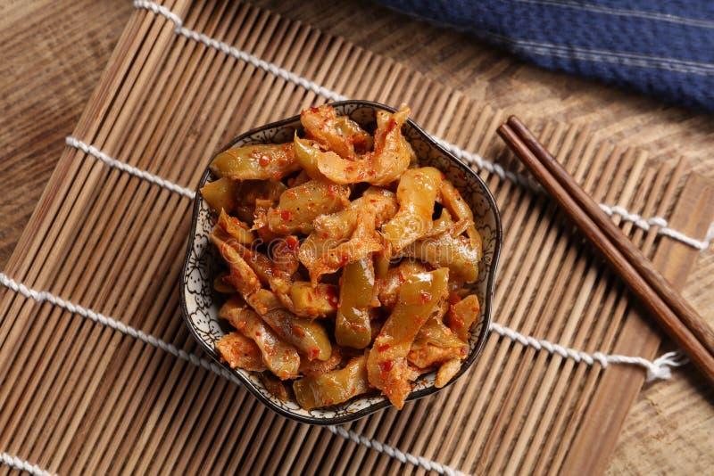 Kimchi kinesisk mat f?r koreansk mat gravade gr?nsaken arkivfoto
