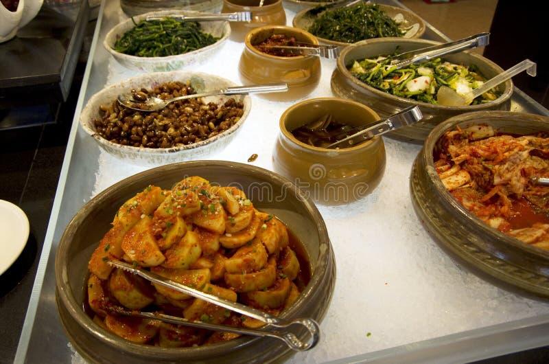 Kimchi in Korean buffet restaurant royalty free stock images