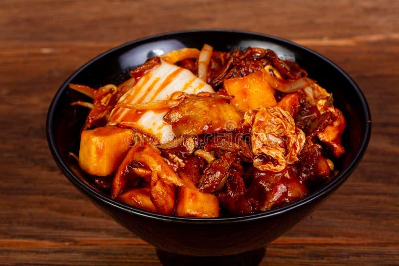Kimchi med nötkött royaltyfri fotografi