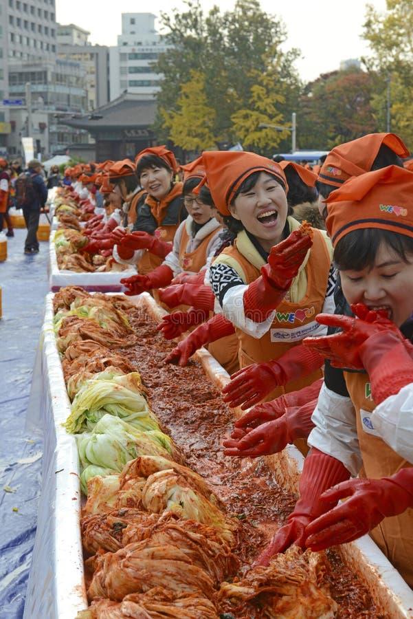 Kimchi robi festiwalowi, Seul Korea fotografia stock