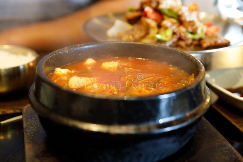 Kimchi stew - Korean food royalty free stock photos