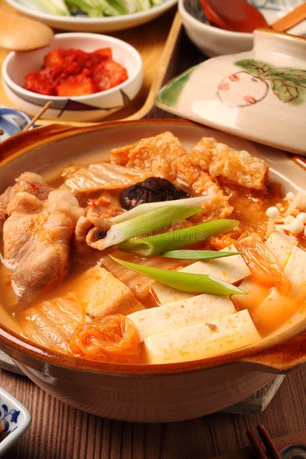 Kimchi varm kruka royaltyfria foton