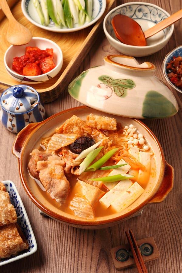 Kimchi varm kruka royaltyfri fotografi