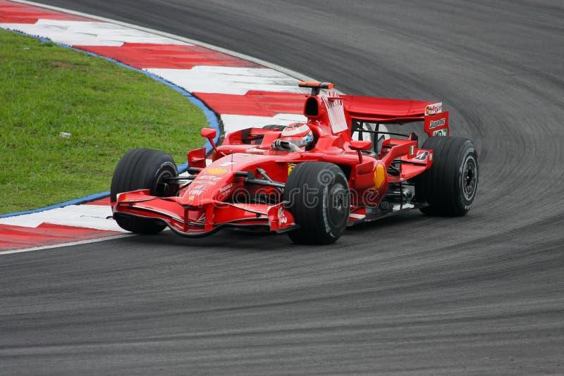 Kimi Raikkonen, het team van Scuderia Ferrari Malboro F1 stock fotografie