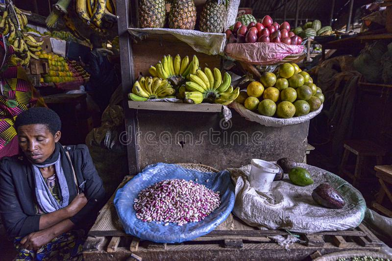 Kimironko-Markt in Kigali, Ruanda stockfoto