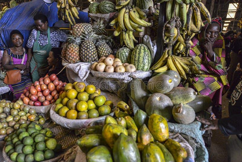 Kimironko-Markt in Kigali, Ruanda lizenzfreie stockfotografie