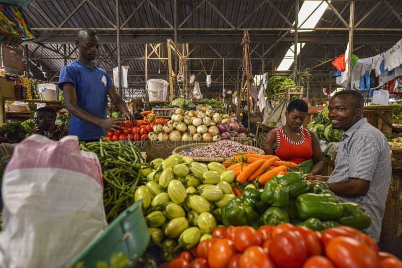 Kimironko-Markt in Kigali, Ruanda stockbild