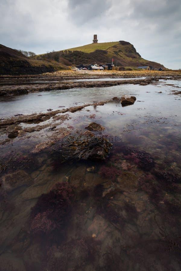 Kimmeridge海湾,多西特 免版税图库摄影