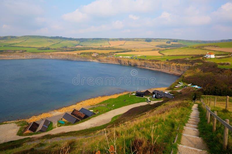 Kimmeridge fjärdöst av den Lulworth lilla viken och nära den Kimmeridge byn på den Dorset kusten England UK arkivbilder