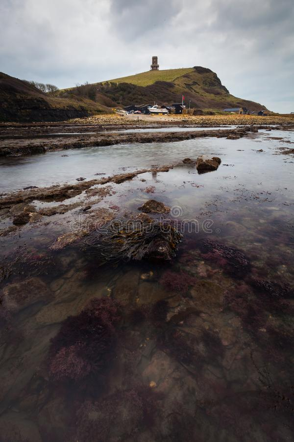 Kimmeridge fjärd, Dorset royaltyfri fotografi