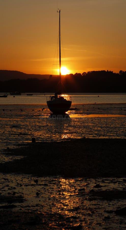 Kimmeridge podpalany Dorset zdjęcia royalty free