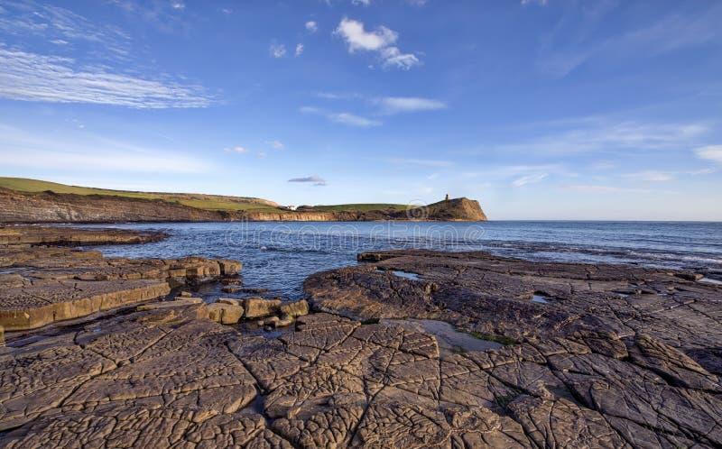 Kimmeridge zatoka W Dorset obrazy royalty free