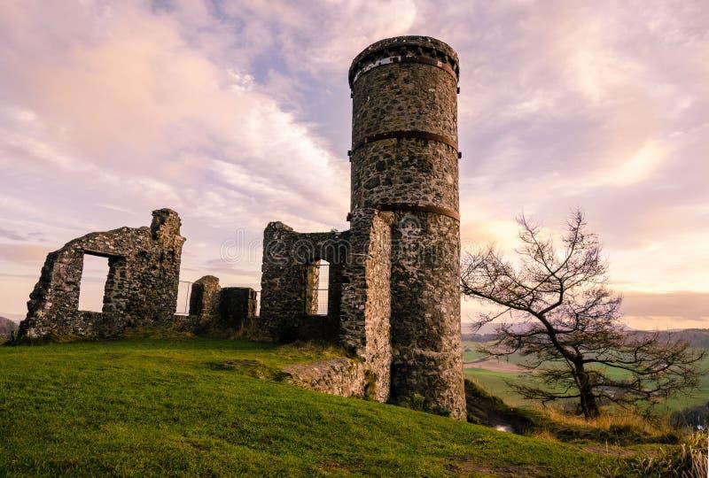 Kimmoull城堡在Perthshire,苏格兰 库存图片