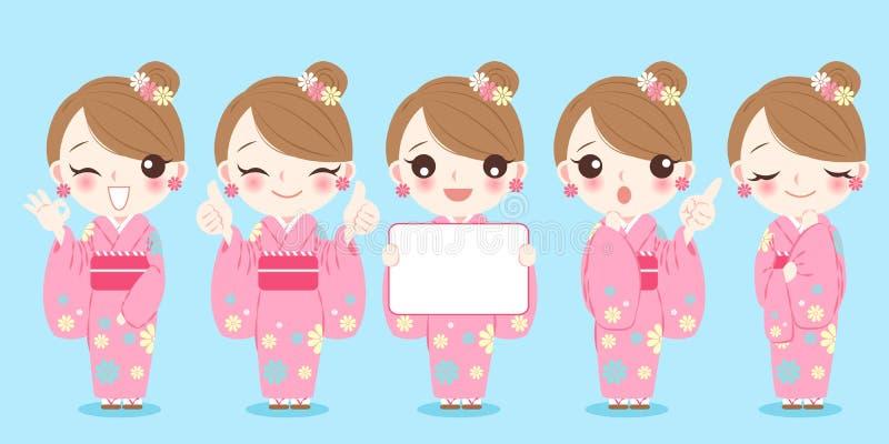 Kimono d'usage de femme illustration libre de droits