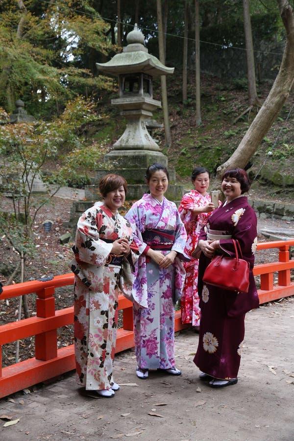Kimono de Kyoto visitant le pays image stock
