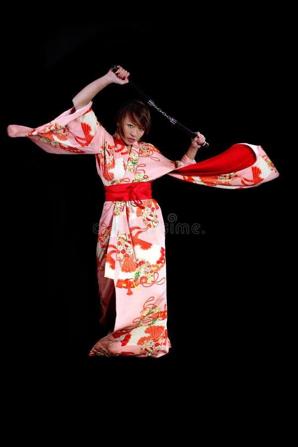 Kimono de la acción imagenes de archivo