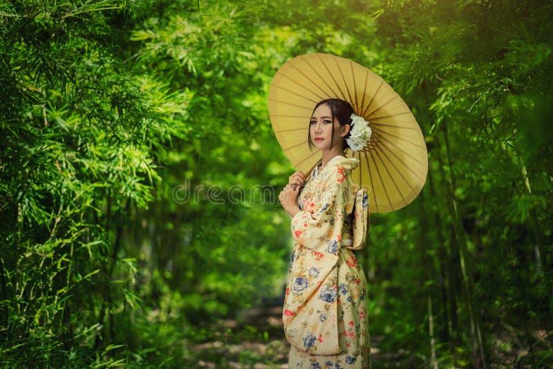Kimono giapponese della donna fotografia stock