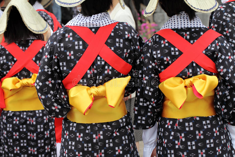 Kimono tradicional fotografía de archivo