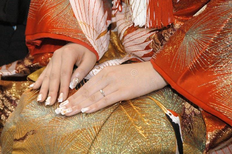 Kimonobröllop arkivfoto
