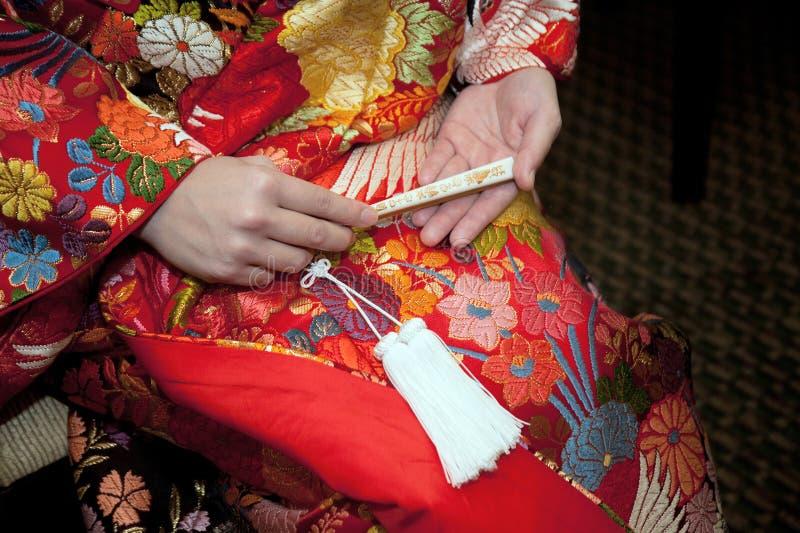 Kimonoförbindelse arkivbild