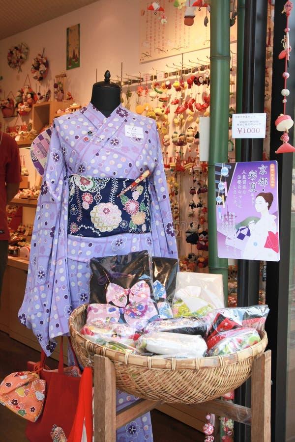Kimonokostuum de traditionele Japanse stijl royalty-vrije stock foto's