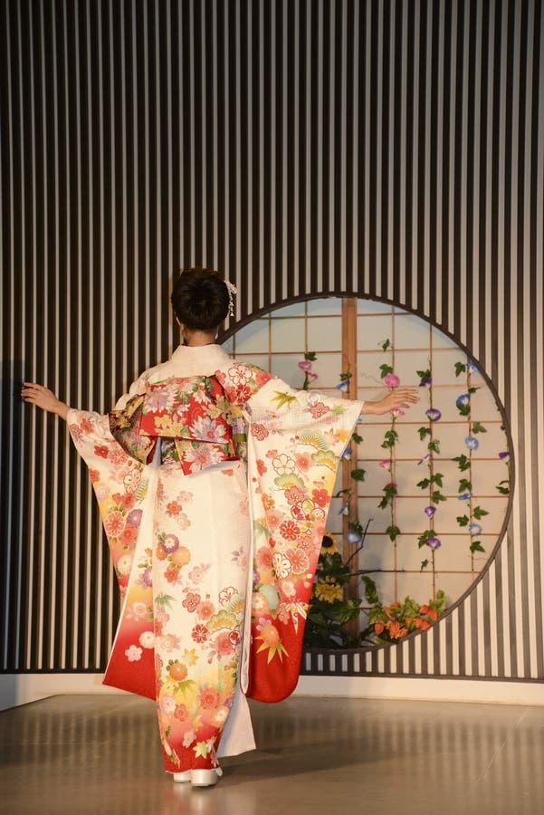 Kimonozeigen in Kyoto lizenzfreie stockfotografie
