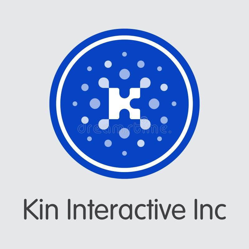 Kin Interactive Inc Cryptocurrency Vetor KIN Coin Symbol ilustração stock