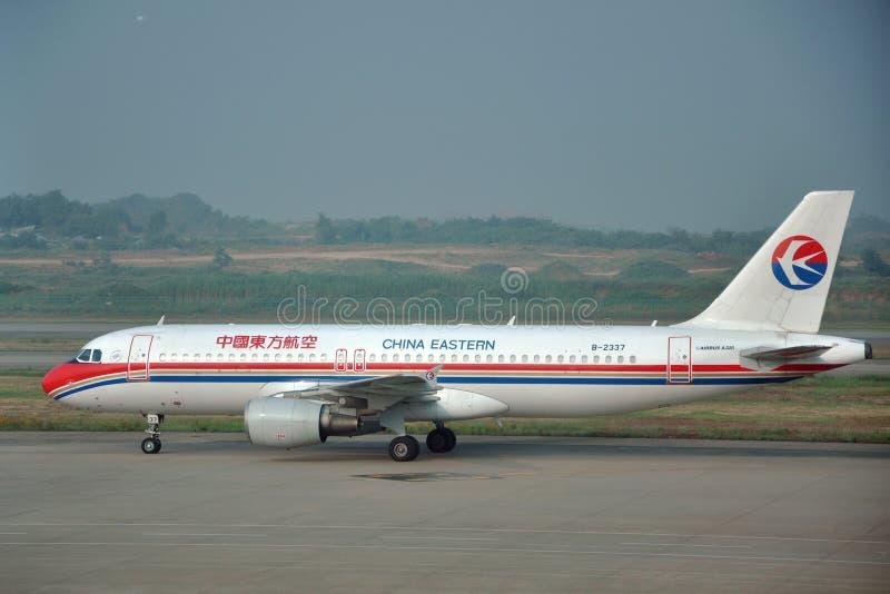 Kina östlig flygbuss A320 royaltyfri foto