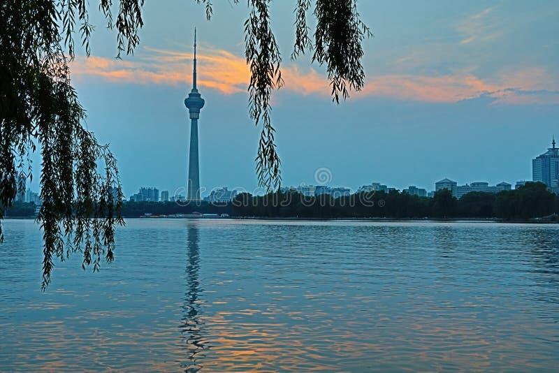 Kina central radio och torn f?r televisiontornCCTV royaltyfri foto