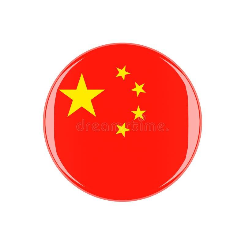 Kina 3d knapp stock illustrationer