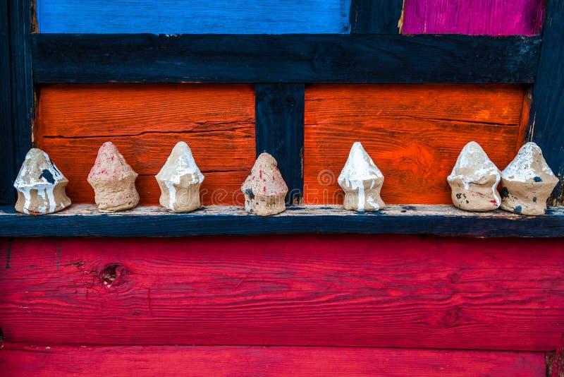 Kina Dan för sichuan landskap yuba, färgrika hantverk i tibetan by för jiaju arkivfoton