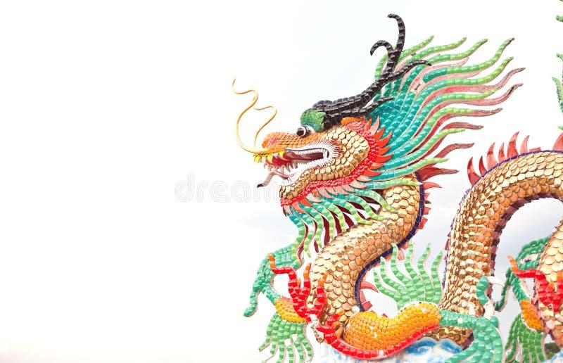 Kina drake på isolat arkivfoton