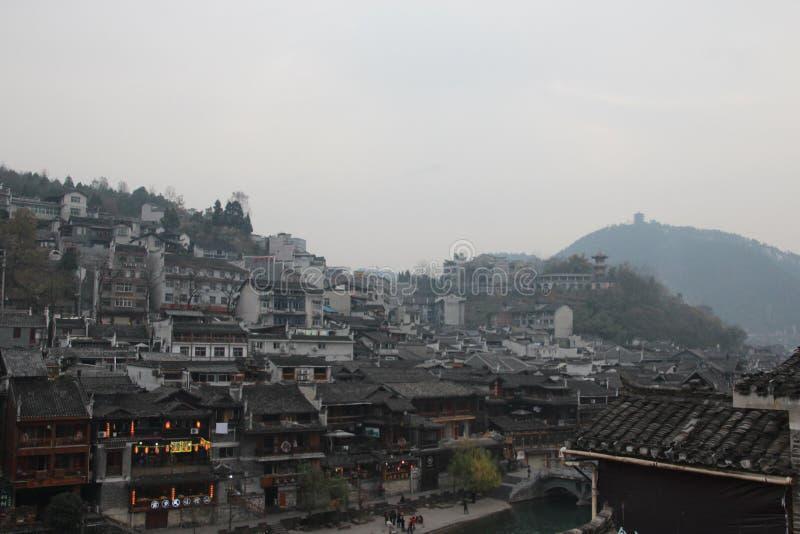 Kina Fenghuang gammal stad Fenix arkivfoton