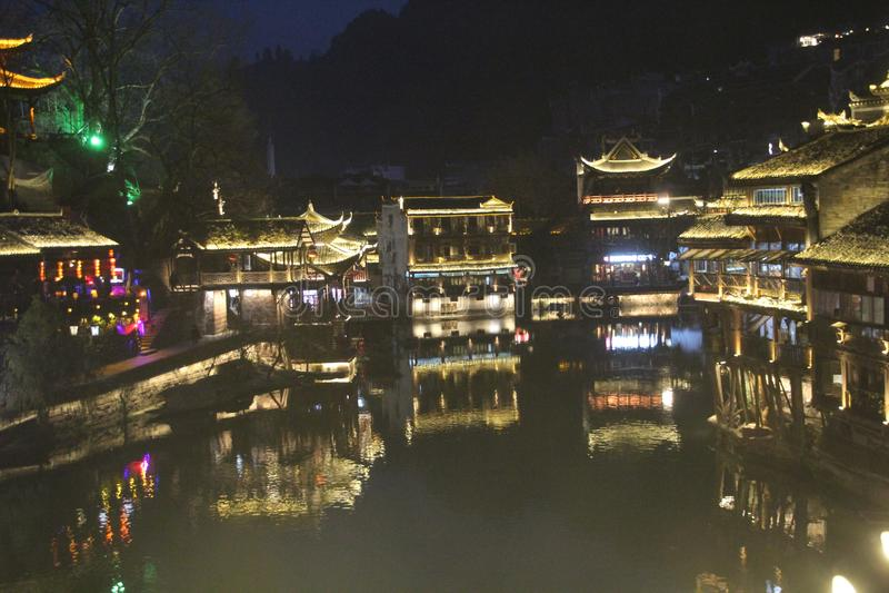 Kina Fenghuang gammal stad Fenix royaltyfria foton