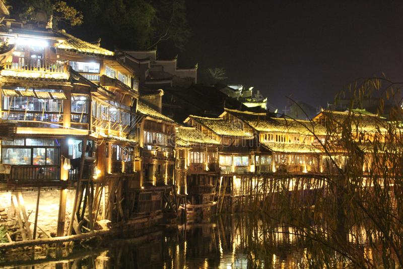 Kina Fenghuang gammal stad Fenix arkivfoto