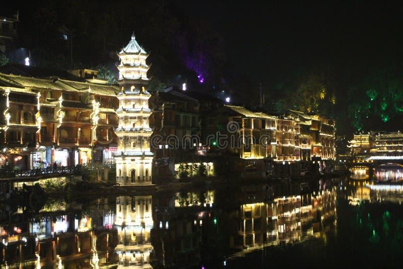 Kina Fenghuang gammal stad Fenix royaltyfria bilder