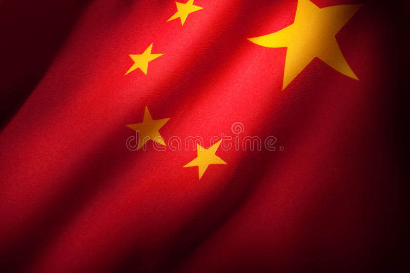 Kina flagga royaltyfri foto