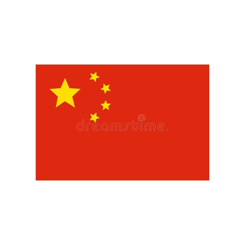 Kina flaggaillustration vektor illustrationer