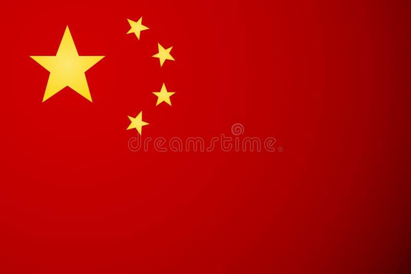 Kina flaggavektor stock illustrationer
