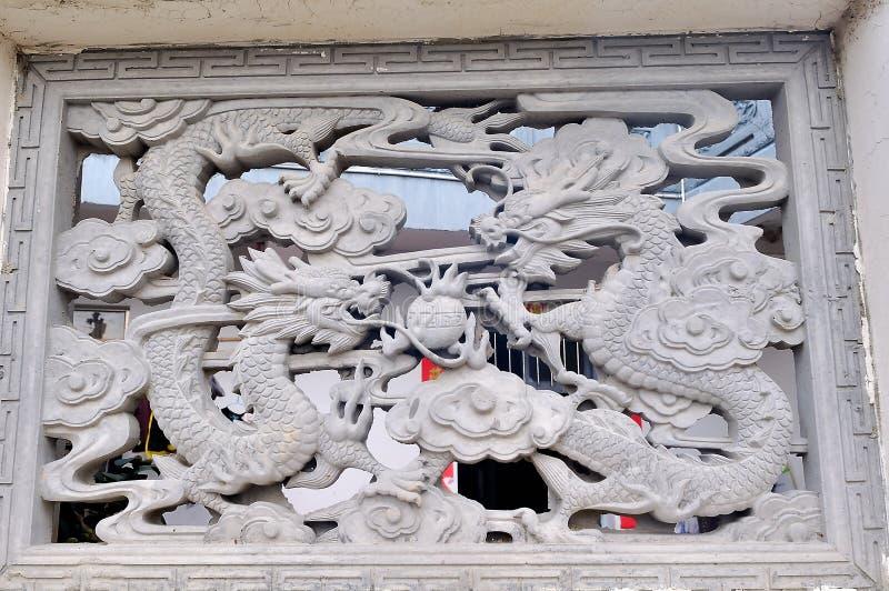 Kina forntida tegelstenkonst arkivfoton