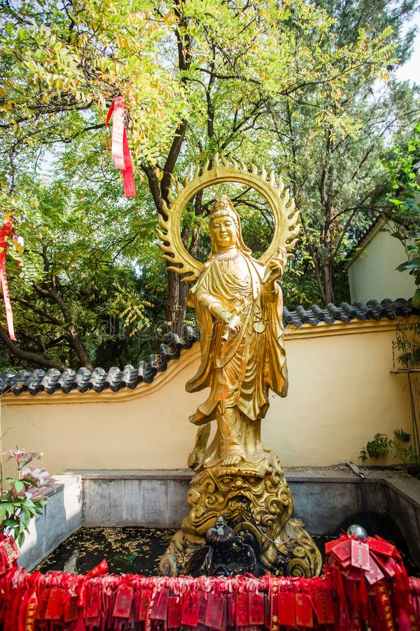 Kina guanyinstaty arkivbilder