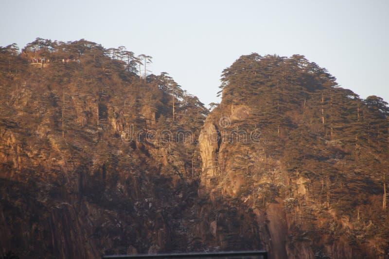 Kina Huangshan nationalpark arkivfoto