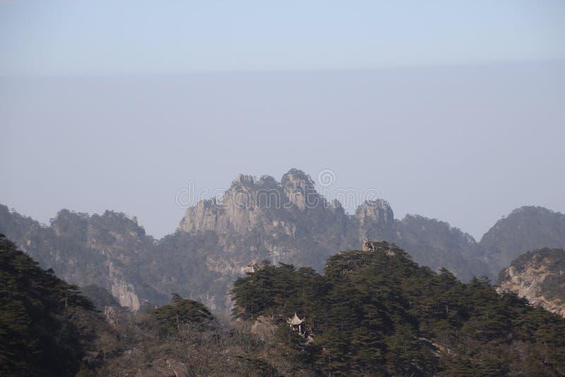 Kina Huangshan nationalpark arkivfoton