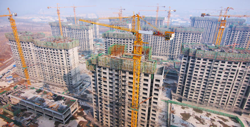 Kina konstruktion royaltyfria foton