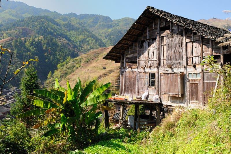 Kina landskap - ris för ryggraden för drake` s terrasserar royaltyfria foton