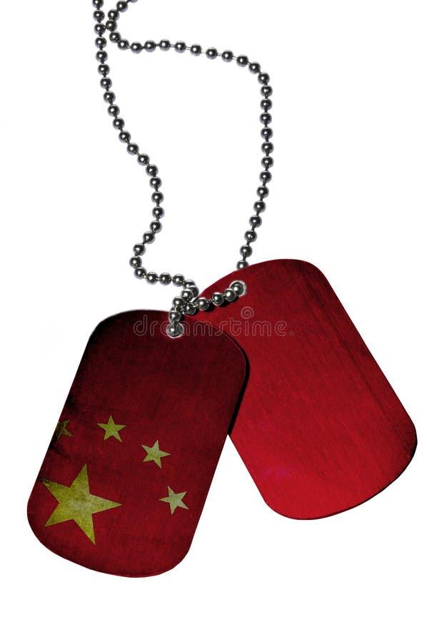 Kina legitimationetiketter royaltyfria foton